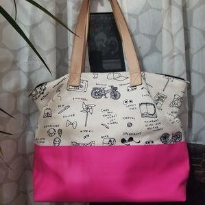 KATE SPADE pink & cream bag
